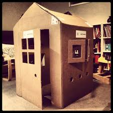 Decorate Cardboard Box Cardboard Box Houses For Kids Re Purpose Little House Made From