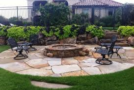 Firepit Area Landscaping And Outdoor Projects Classic Rock Yard Pit