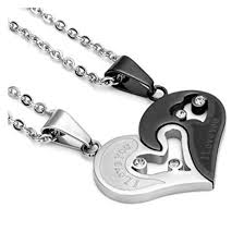 couple love heart necklace images Couple necklaces love heart discountpure jpg