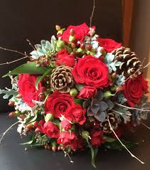 wedding flowers northumberland wedding at christmas elizabeth hexham alexanders flowers