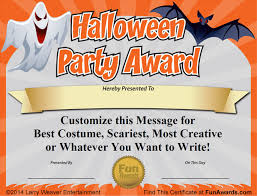 Halloween Costume Contest Ribbons Free Printable Certificate Office