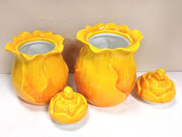 kitchen canister sets and food storage jars yellow canister sets canister set kitchen flower shaped jars storage coffee tea sugar