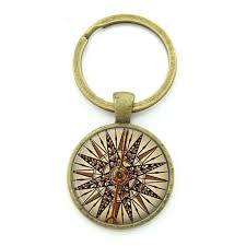 keepsake keychains retro nautical compass key chain world sailing sailors special