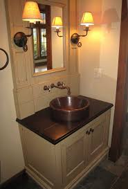 powder room sink copper vessel sinks bathroom vena gozar