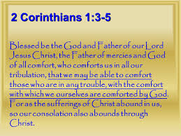 May The God Of All Comfort Philippians 1 3 5 3 I Thank My God In All My Remembrance Of You 4