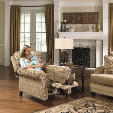 Fabric Recliner Chair Reclining Chair In Camel Patter Fabric By Jackson Furniture 4438
