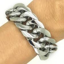 stainless steel bracelet links images Promotion sale 21mm mens boys close curb links cuban bracelet jpg