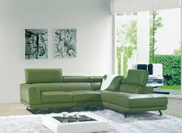 Ebay Sectional Sofa Inspirations Green Leather Sectional Sofa And Vig Furniture 8012