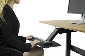 office desk with adjustable keyboard tray amazon com kt2 ergonomic under desk adjustable height angle sit