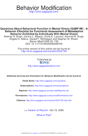 questions about behavioral function in mental illness qabf mi a