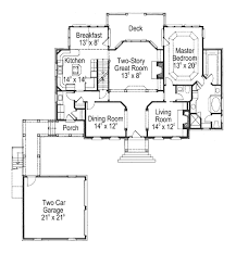 colonial style house plan 4 beds 3 50 baths 2865 sq ft plan 429 13