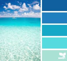 create a mental vacation with colors inspired by the sea a range