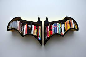 batman bat shaped bookshelf design milk