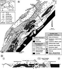 Occ Map A Geological And Structural Map Of The Southern Québec