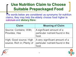 Suitable Meaning by Nutrition Labelling And The Elderly Ppt Download