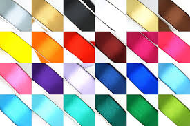 ribbon by the yard 25 yard satin ribbon rolls in 24 colors select size 1 4 3 8