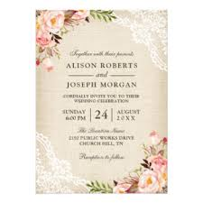 wedding invitations lace lace wedding invitations announcements zazzle