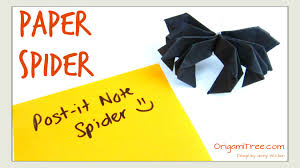 halloween spiders crafts halloween crafts paper spider post it r note crafts spider