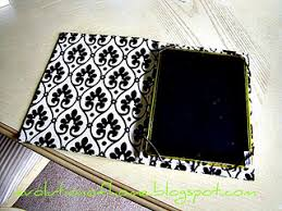 make your own kindle or ipad cover old book fabric elastic and