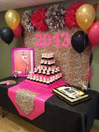 Gold And Pink Party Decorations Pink Gold Black And Leopard Print Graduation End Of