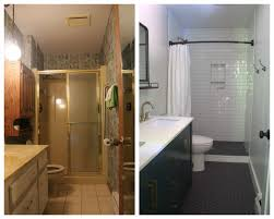 remodeled modern bathrooms bright green door