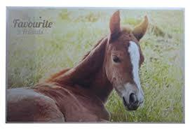 sous cheval bureau sous 38 5 x 58 5 cm avec motif cheval amazon fr fournitures