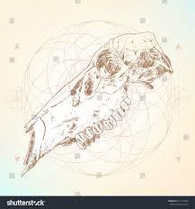vector animal skull design tattoo art stock vector 417119440