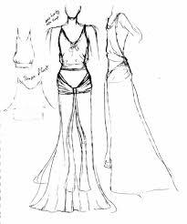 how to draw a dress sketch fashion belief