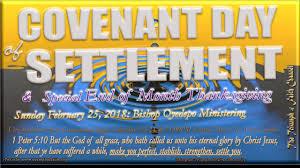 covenant day of settlement thanksgiving service february 25 2018