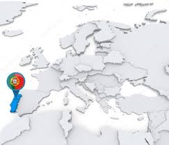 A Map Of Europe Portugal On A Map Of Europe U2014 Stock Photo Kerdazz7 52549321