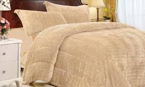 Tiger Comforter Set Three Piece Fur Comforter Set Groupon Goods