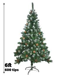 artificial tree 5ft 6ft 7ft decoration green snow pine