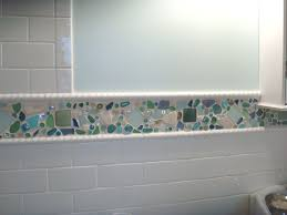 sea green glass tile backsplash home decorating interior design