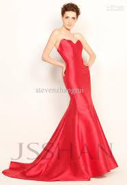 red mermaid style prom dress best dressed