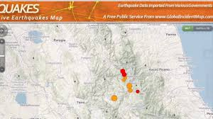 Italy Earthquake Map by Terremoto Quake Hits Central Italy Lat 42 79 N Mag 6 1 Depth 9