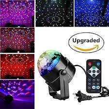 led disco ball light amazon com led disco ball party lights renoliss remote control