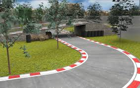 race track racetrack circuit 3d model cgtrader