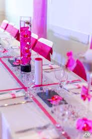 deco table rose et gris déco mariage fushia argent wedding pinterest mariage