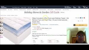 Best Gel Foam Mattress Topper Best Memory Foam Mattress Topper Youtube