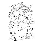 coloring pages pigs