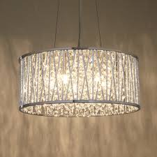 emilia drum crystal pendant light crystal pendant lighting
