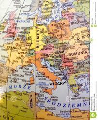 Europe Language Map by Europe Map In Polish Language Atlas Stock Photo Image 46481898