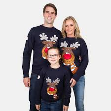 navy rudolph sweater from funky sweaters