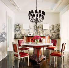 Chandelier Mural Beautiful Apartment Dining Room Wall Mural Decorating Idea Focused