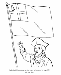 coloring pages american flag usa printables bunker hill flag american symbols coloring pages