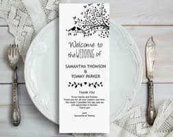 tea length wedding program template tea length program etsy