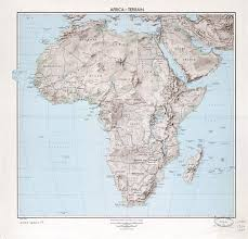 Map Of Countries Large Scale Detailed Political Map Of Africa With Relief Marks Of