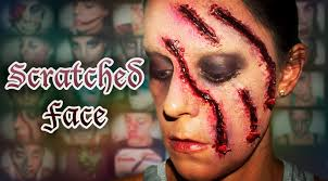 halloween fx makeup scratched face silvia quiros youtube