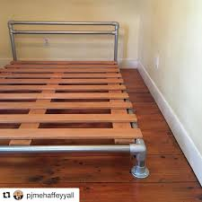 Bed Frame Legs For Hardwood Floors Legs Were Added To The Bed Frame And Wooden Slats Were Attached