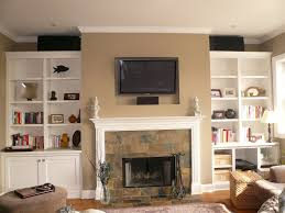 Office Space Interior Design Ideas House Best Family Room Accent Wall Colors With Fireplace And
